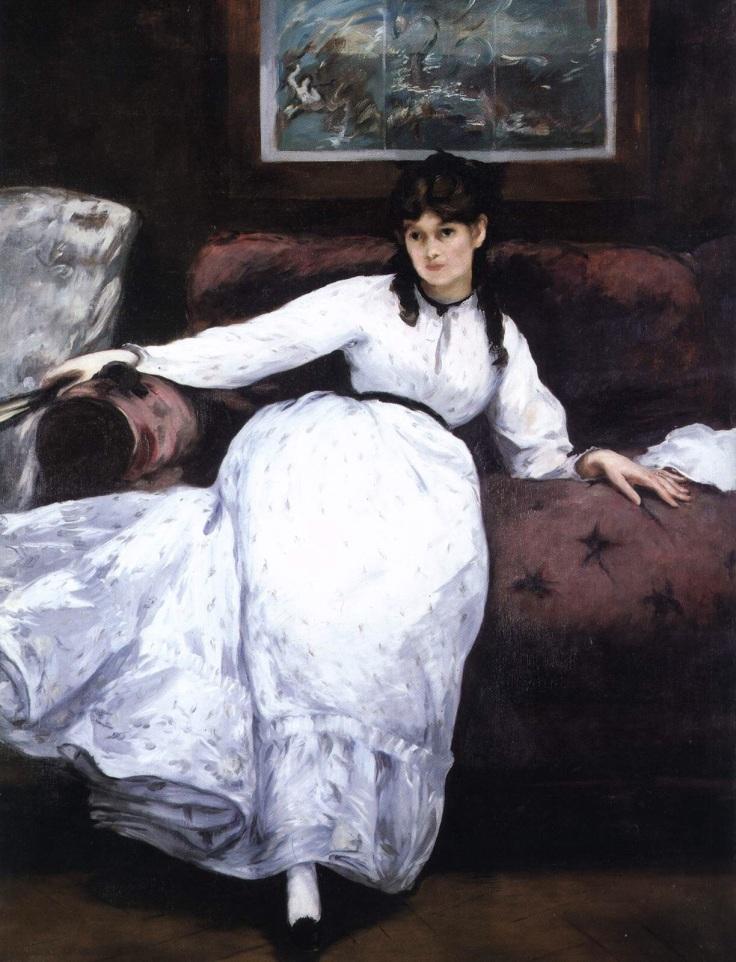 Le repos Berthe Morisot par Manet