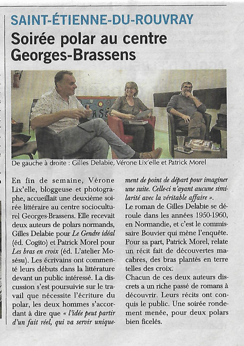 Paris Normandie article 26-10-2018 Soirée polar bis mini